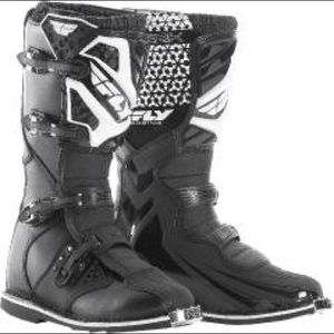 Fly racing boots, gently used, men's 8.5